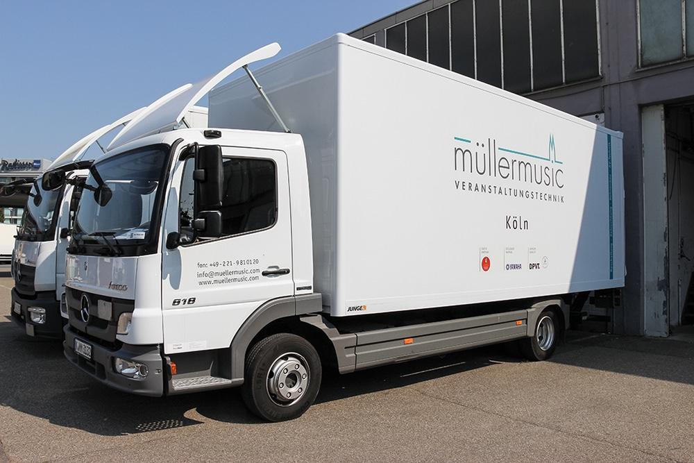 Müllermusic Veranstaltungstechnik Truck