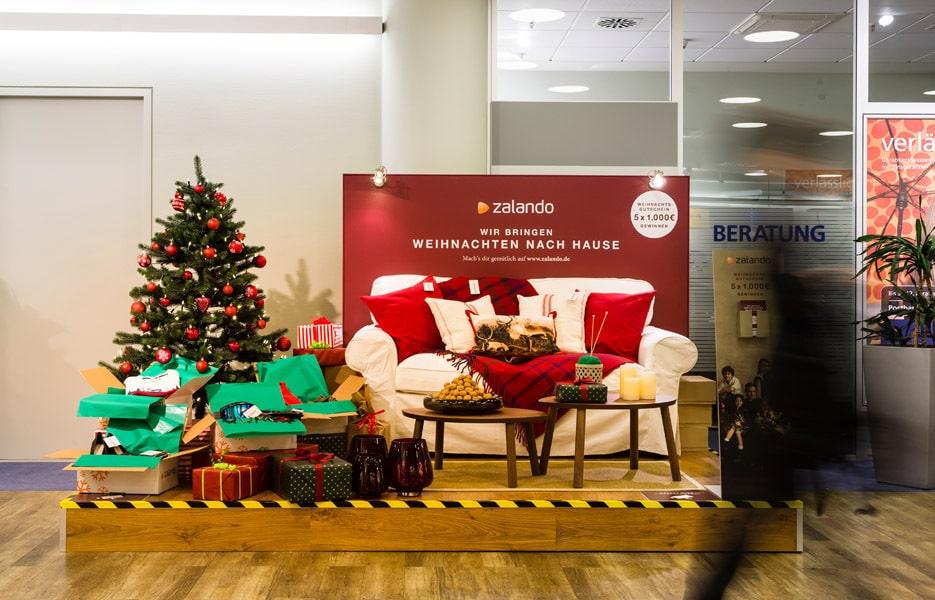Weihnachtspromotion für Zalando