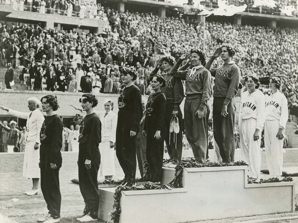 Siegerehrung Olympia 1936