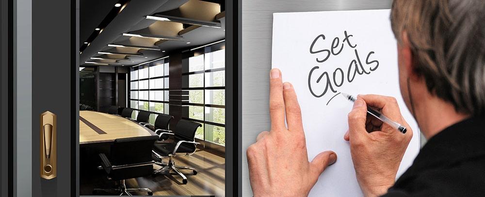 """""""Set Goals"""" Schriftzug"""