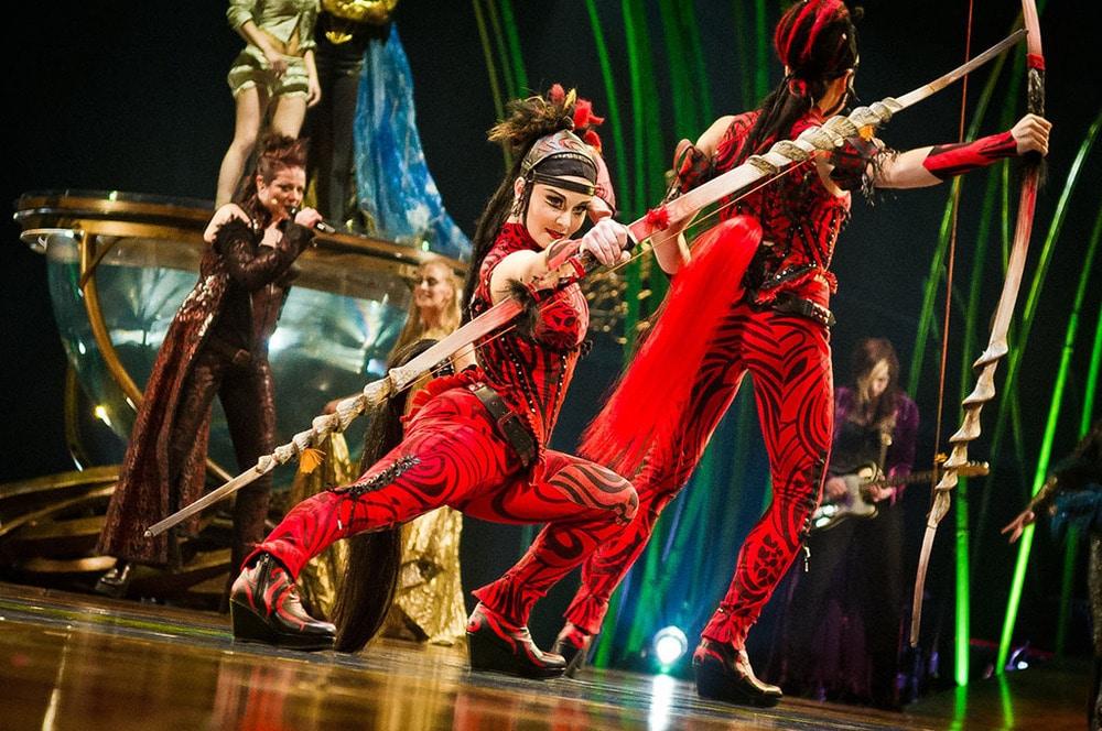 Göttinnen-Charakter im Cirque du Soleil