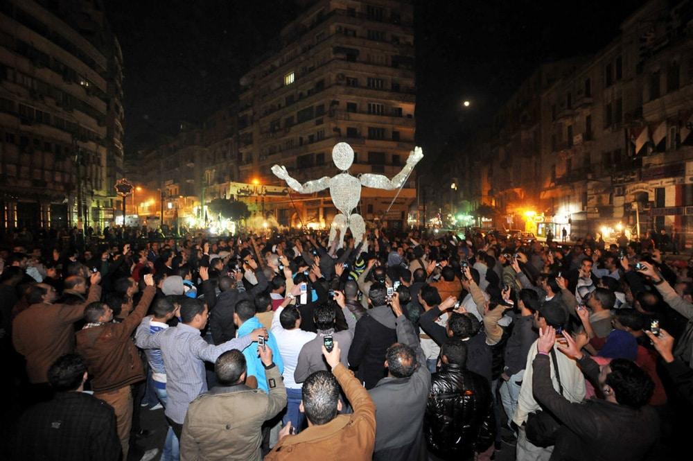 Dundu in Ägypten auf dem Tahrir-Platz