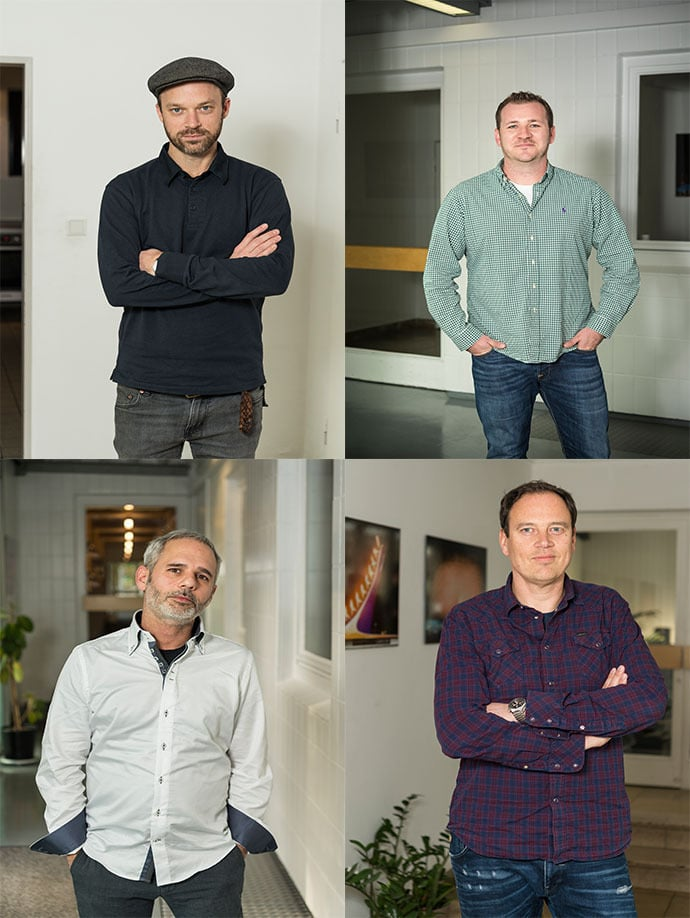 Brendan Shelper, Patrick Kennedy, Roberto Emmanuele und Frank Lohse.