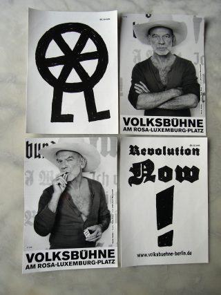 Aufkleber von der Volksbühne Berlin