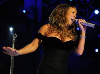 Sängerin auf einem Event