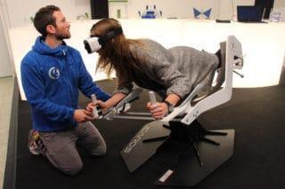 VR Flugsimulation auf der BOE