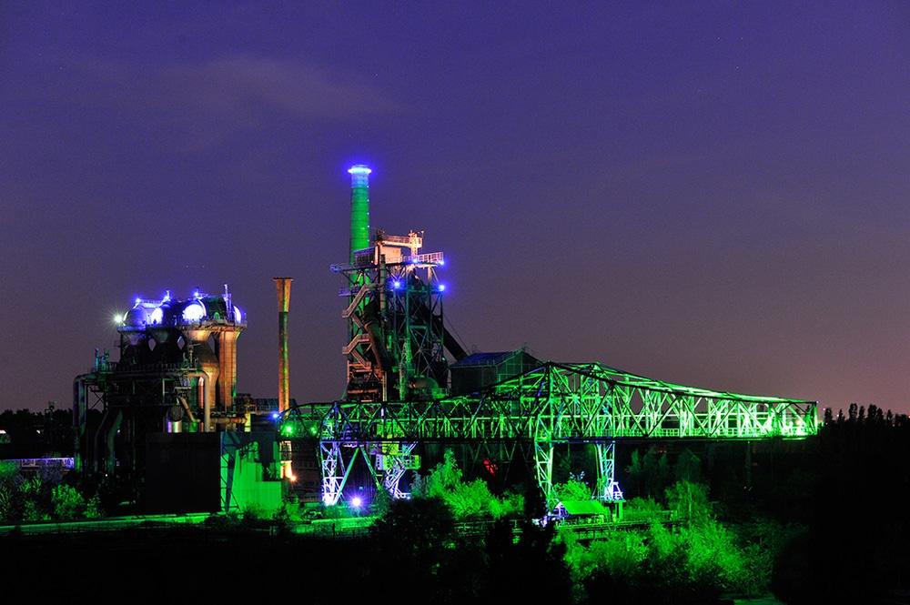 Lichtinstallation im Landschaftspark