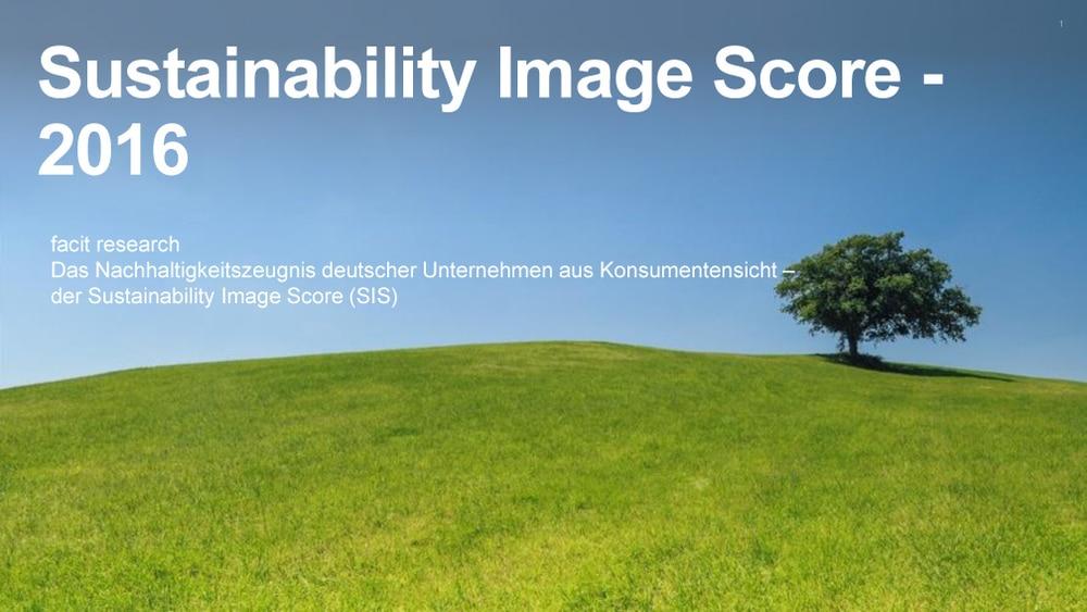 Sustainability Image Score Studie