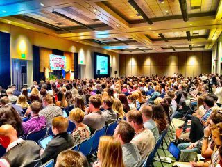 Publikum bei einem Vortrag
