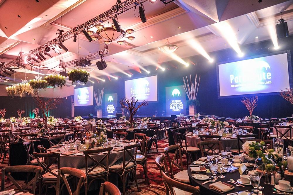 Das Design einer indoor Gala / Veranstaltung