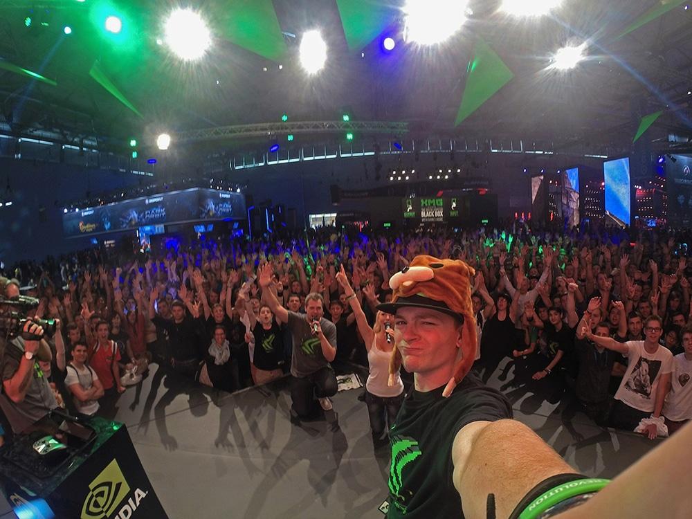 Selfie auf der Gamescom