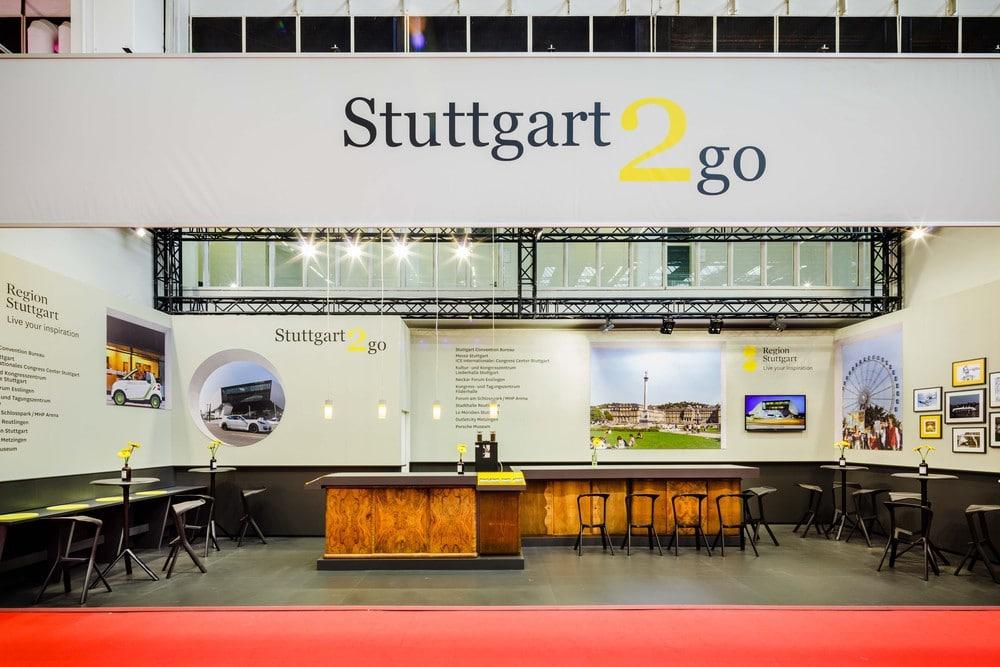 Messestand Stuttgart2go