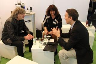 Walter Wehrhan, Cornelia Zanger und Christian Seidenstücker im Gespräch