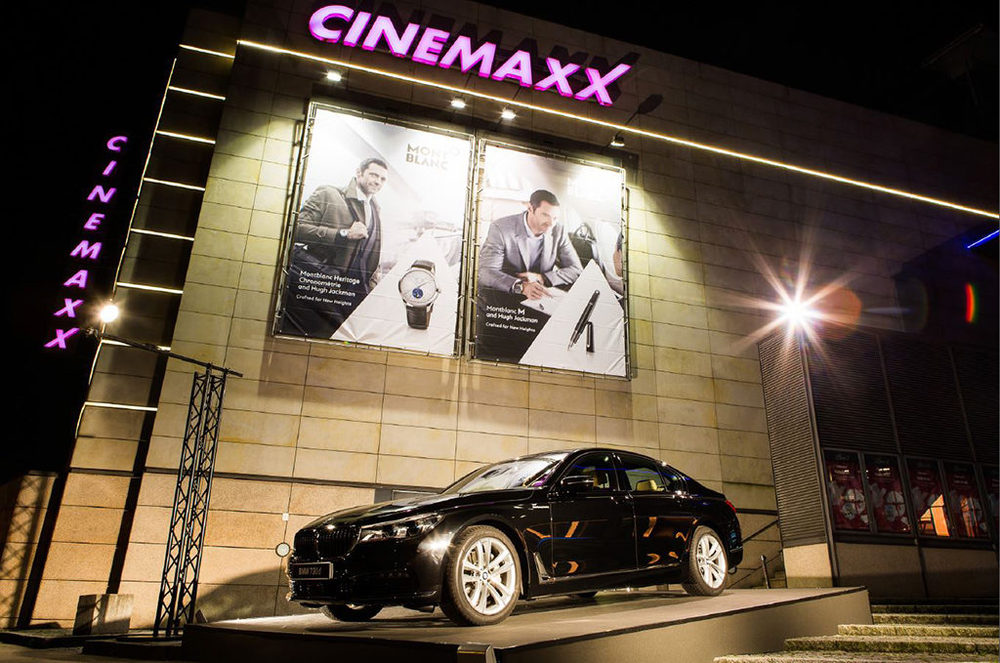 Auto Produktpräsentation in einer Kino Eventlocation