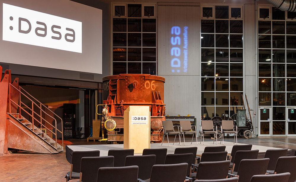 Bestuhlung diverser Veranstaltungsräume in der DASA Ausstellung