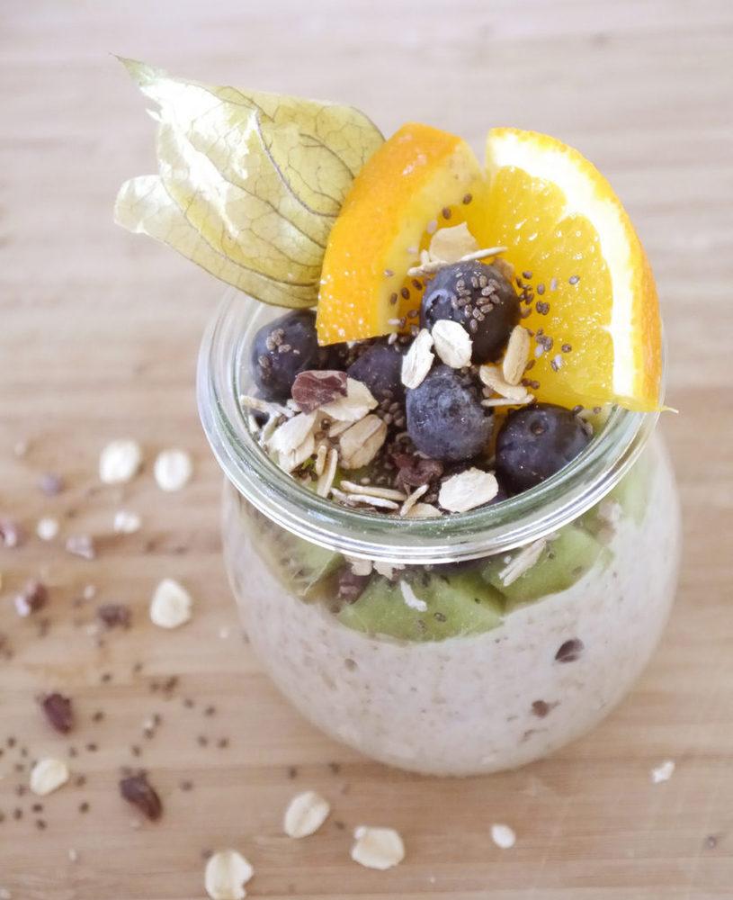 Porridge im Einmachglas