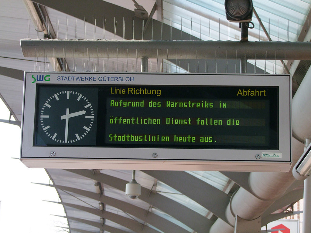Zug Verspätung