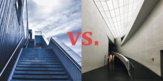 Treppen vs. Rampe