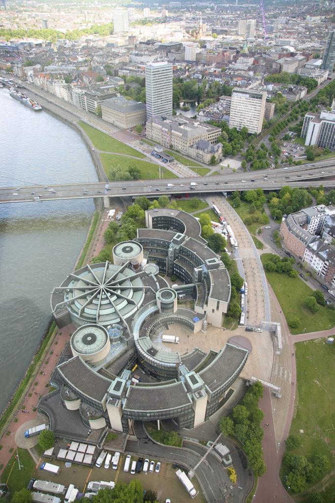 Der Düsseldorfer Landtag aus der Vogelperspektive