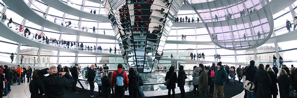 Der Bundestag in Berlin - Glaskuppel