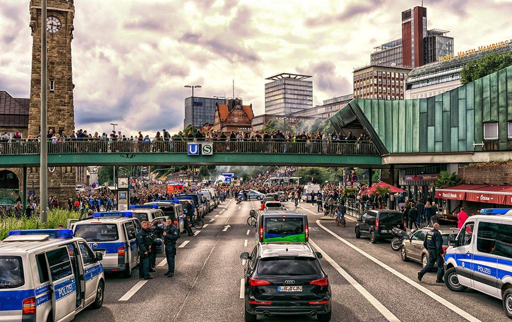 Demonstrationen und Polizei beim G20 Gipfel 2017 in Hamburg