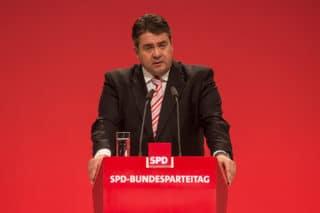 SPD Politiker Sigmar Gabriel beim Bundesparteitag