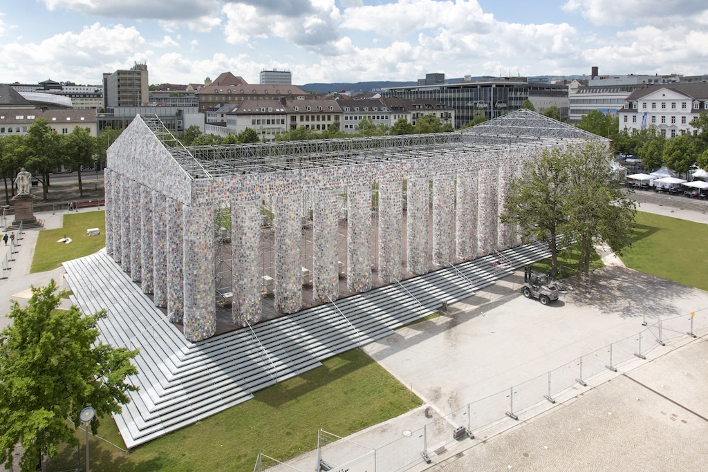 Martha Minujín, The Parthenon of Books, documenta 14