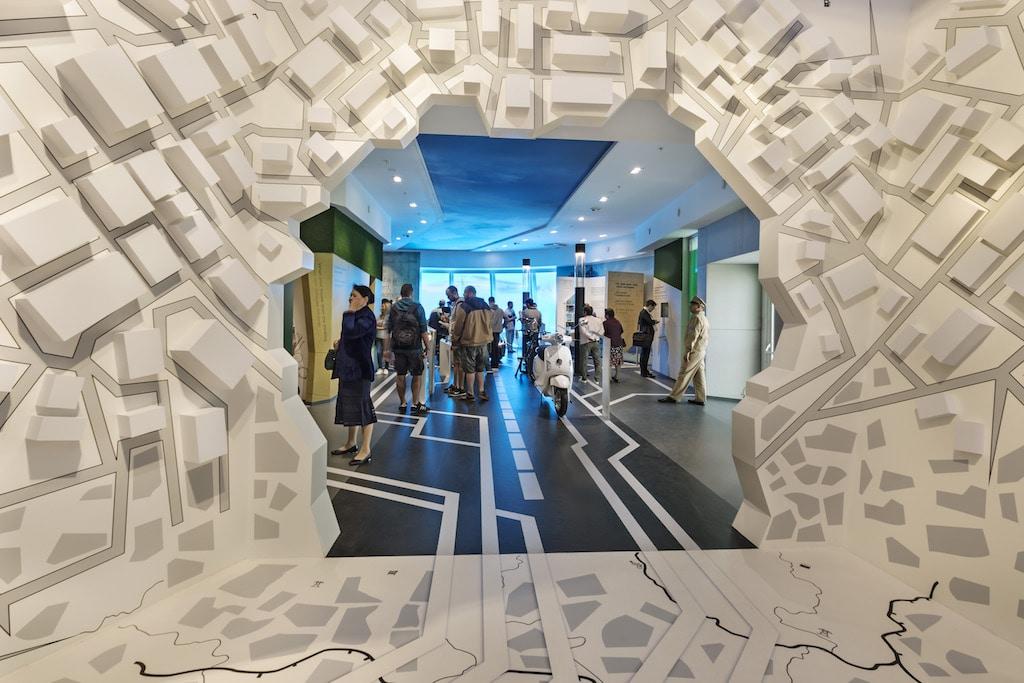 Blick in die Stadt der Zukunft im deutschen Pavillon auf der EXPO 2017