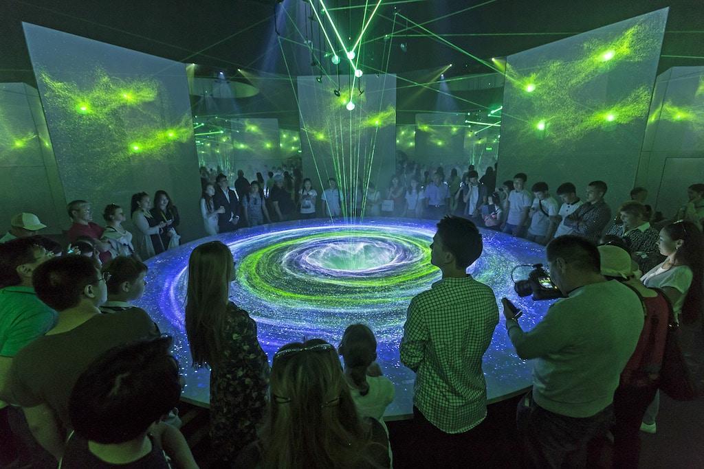Die finale Mainshow im deutschen Pavillon auf der EXPO 2017