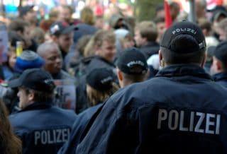 Polizeieinsatz bei einer Demonstration