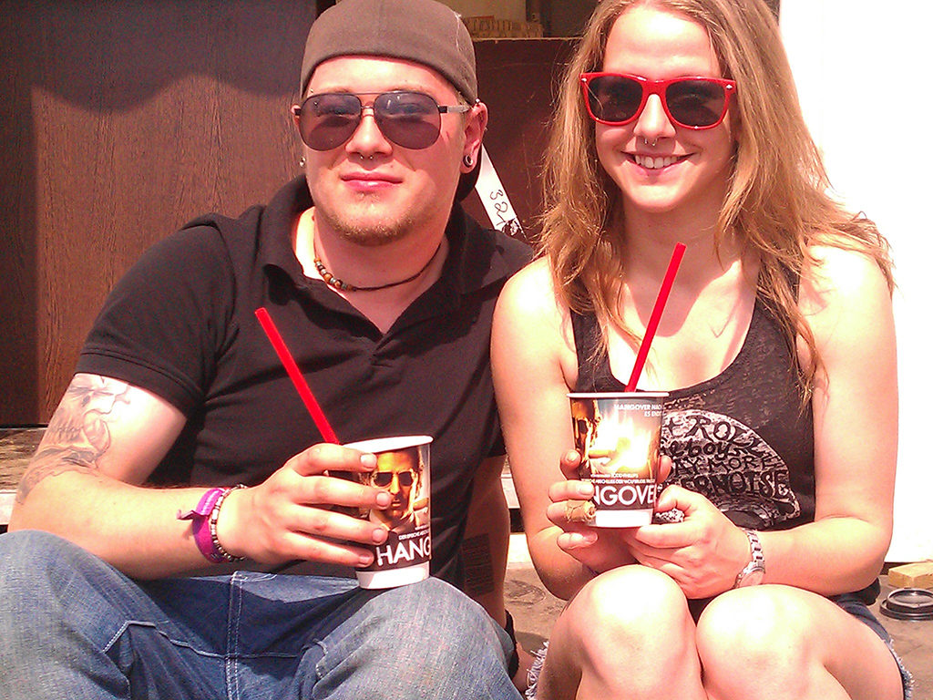 Hangover Coffee Cup Branding bei Rock am Ring 2013
