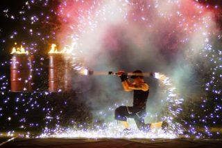 Florian Linn, Pyrotechniker bei Firedancer