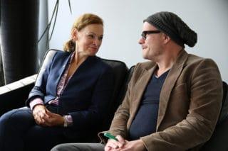 Sabine Loos, Hauptgeschäftsführerin der Westfalenhallen, und Jan Kalbfleisch, Geschäftsführer des FAMAB