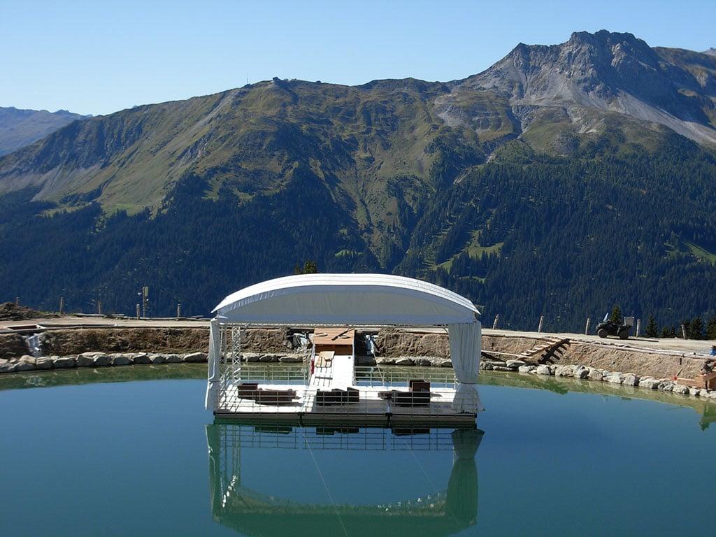 Bühnenbau auf dem Wasser