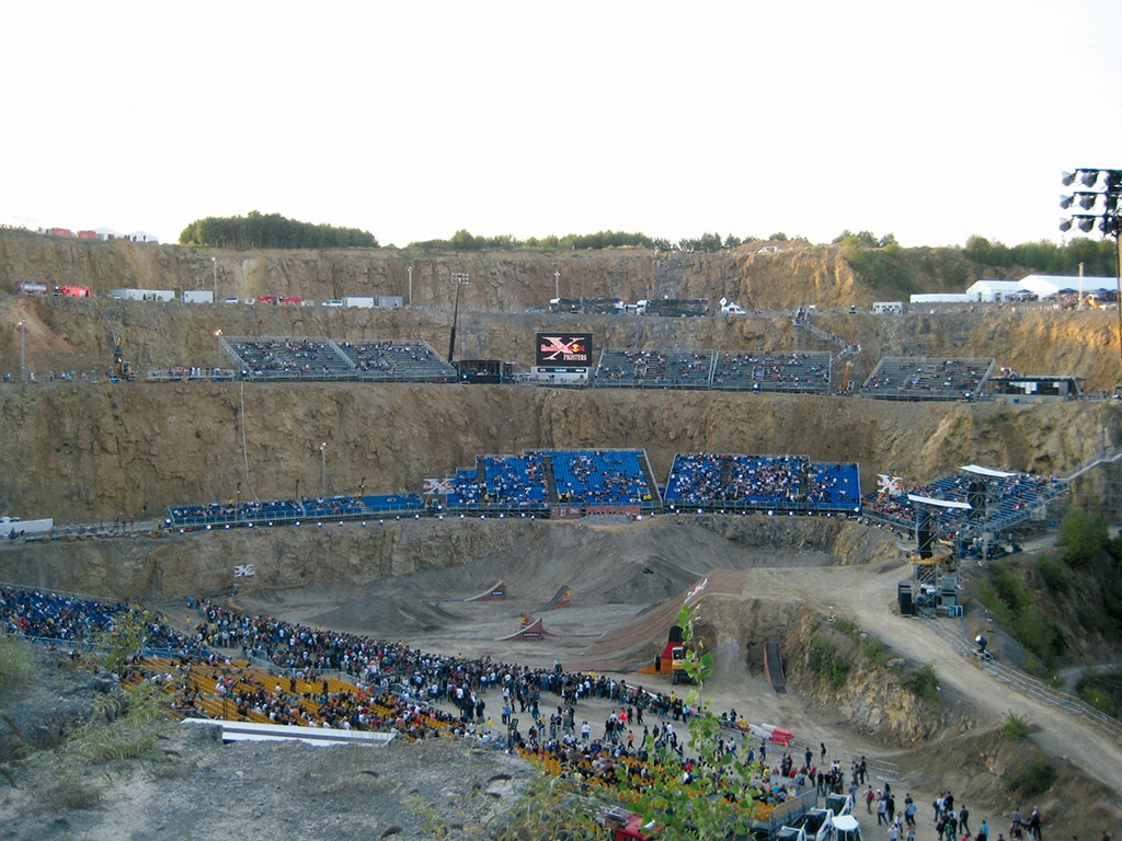 Tribünen für Red Bull X Fighters Steinbruch Wuppertal