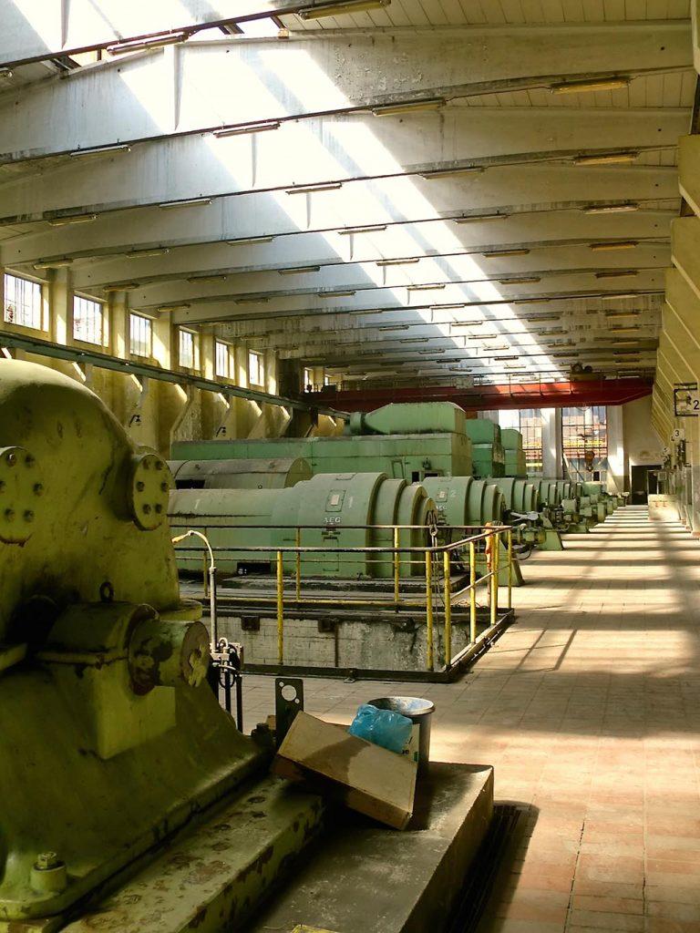 Die Halle der Grand Hall Zollverein vor ihrer Sanierung 2014.