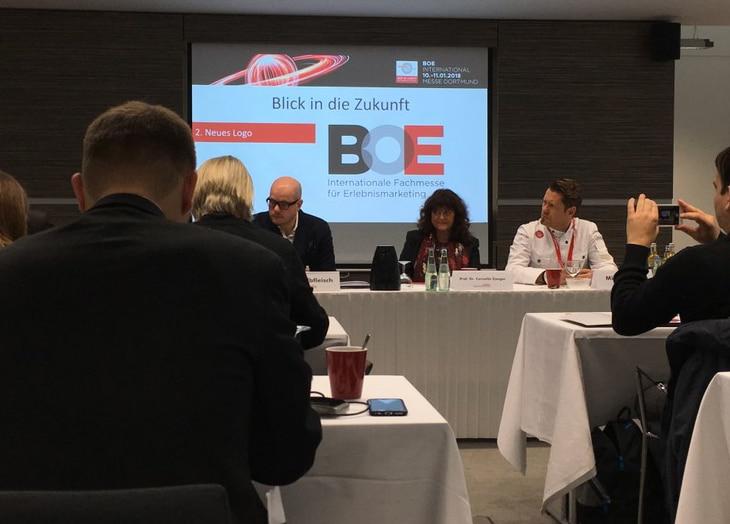 Das neue Logo der BOE - vorgestellt während der Pressekonferenz am 10.1.2018.