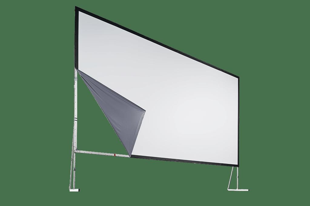 Knüpfbare Aufprojektionswand auf Aluminiumrahmen von AV Stumpfl.