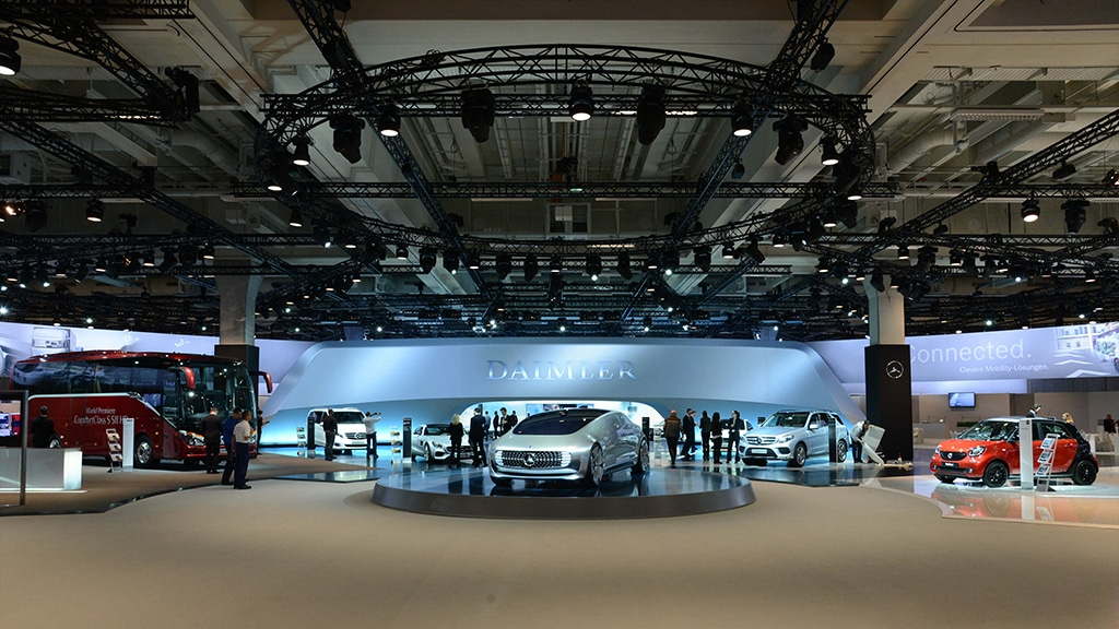Bei der Aktionärsversammlung von Daimler sorgte Neumann&Müller für den passenden Sound.