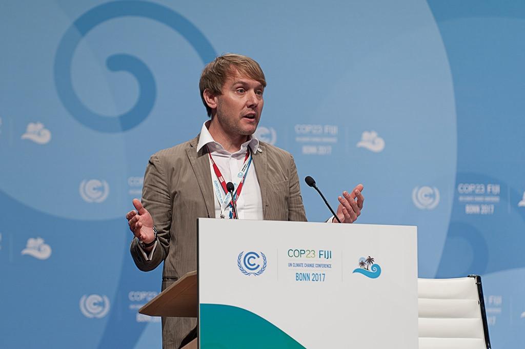 Dennis Winkler, Leiter des UNFCCC-Nachhaltigkeitsteams für die Organisation von Klimakonferenzen
