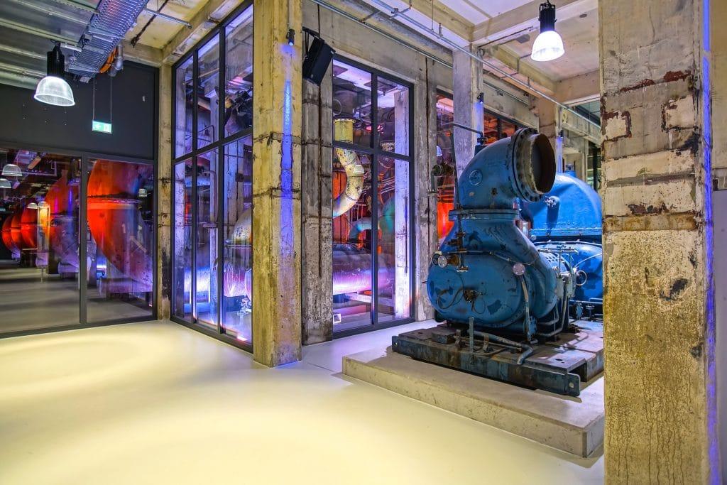 Erinnerung an die industrielle Vergangenheit im Foyer der Grand Hall Zollverein.