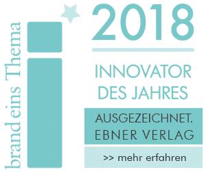 Innovator des Jahres 2018 _ Auszeichnung