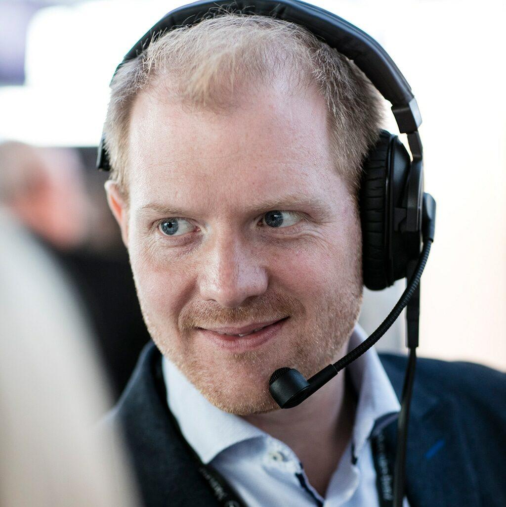 Ablaufregisseur Chris Cuhls in der Eventregie.