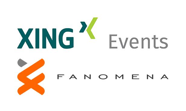Logos von Xing Events und Fanomena
