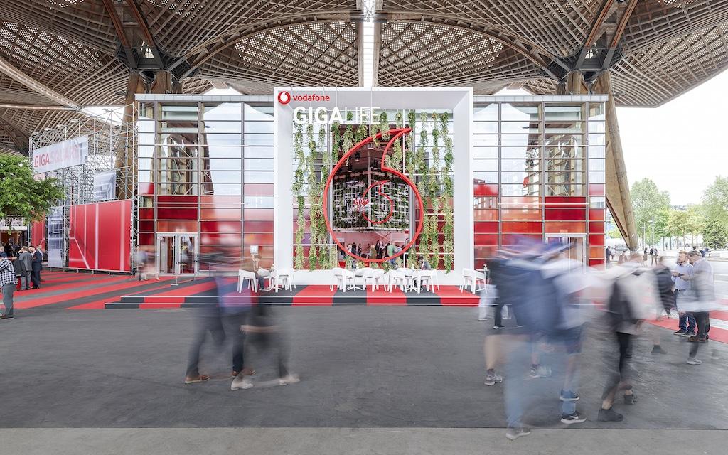 Vodafone Gigasquare auf der Cebit 2018
