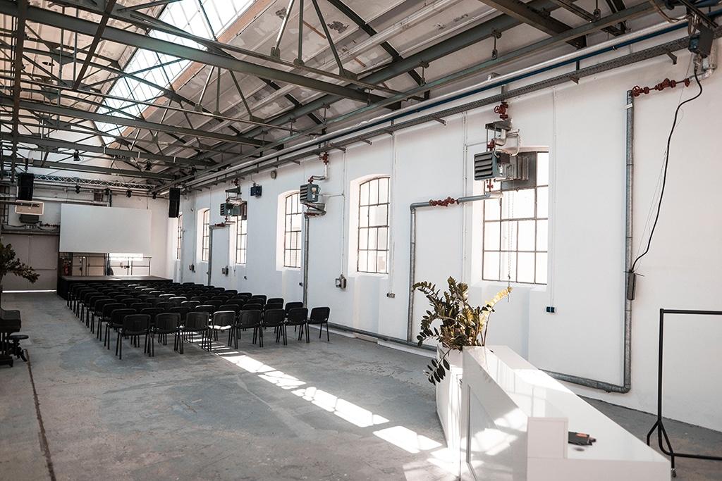 Altes Auktionshaus: Die neue Location der Halle 45 und wichtiger Baustein in der Weiterentwicklung zur Konferenz- und Tagungslocation.