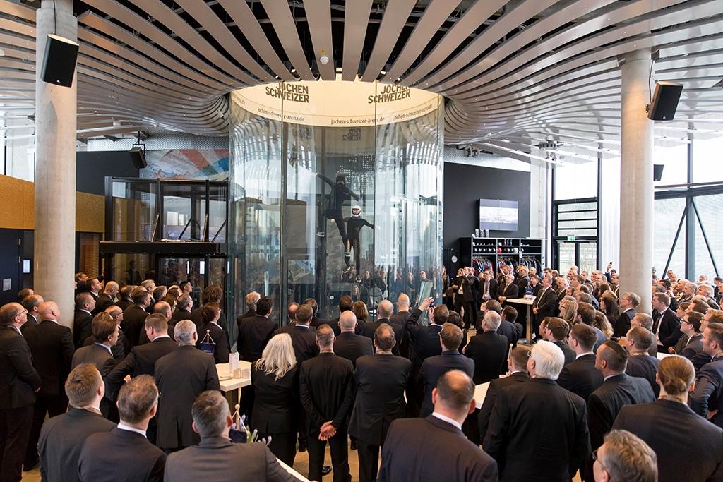 Jochen Schweizer Arena: Veranstaltungs-Windrotor