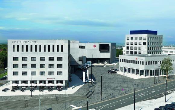 Der Leitz-Park in Wetzlar nach Fertigstellung des dritten Bauabschnitts.