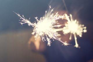 Wunderkerze-Feuerwerk-Feier-Fest-Party