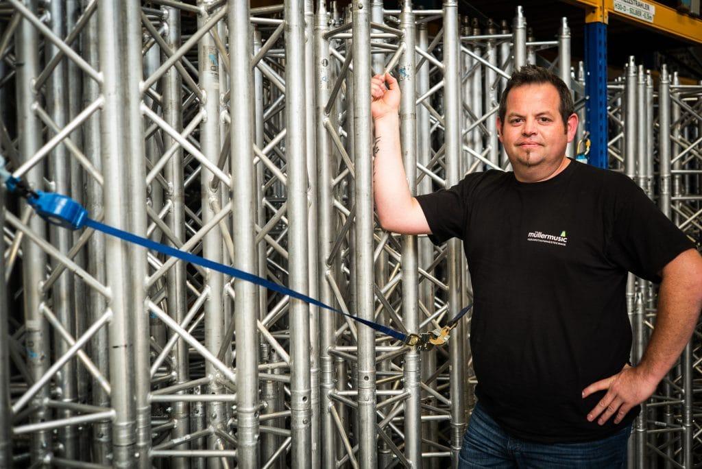 Ralf Henseler, Technischer Projektleiter und Ausbilder bei müllermusic Veranstaltungstechnik GmbH & Co. KG